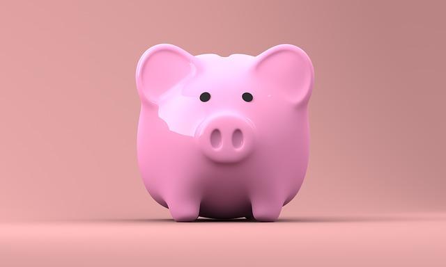 růžová pokladnička
